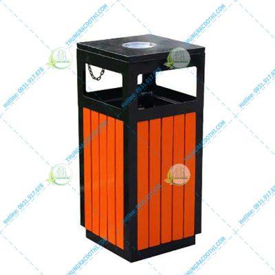 bán thùng rác gỗ
