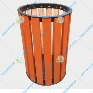 thùng rác gỗ ngoài trời A78-B