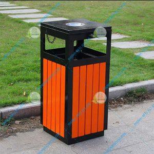 thùng rác gỗ cao cấp