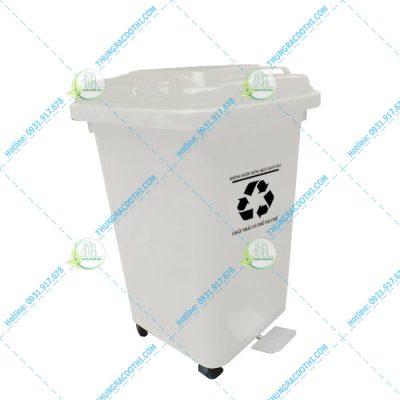 thùng rác y tế đạp chân 60 lít