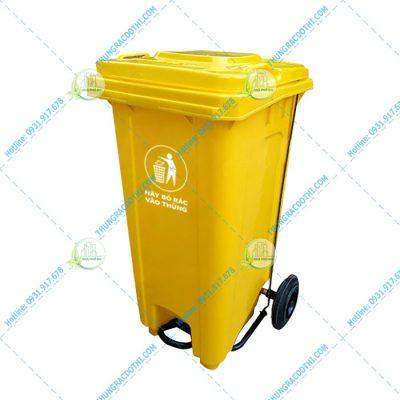 Thùng rác y tế đạp chân