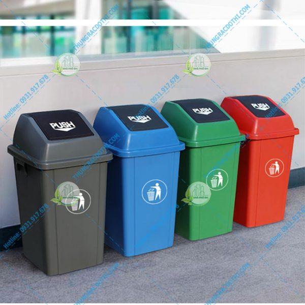 Giá thùng rác nắp lật