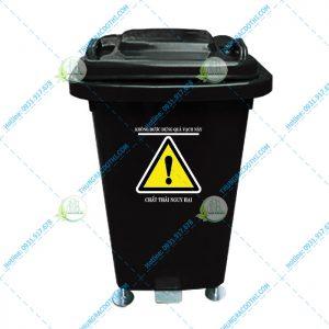 giá thùng rác y tế 60 lít đạp chân