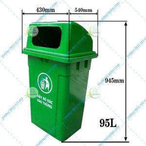 Kích thước thùng rác nhựa 95 Lít