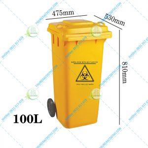 kích thước thùng rác y tế 100 lít