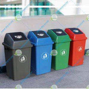thùng rác nắp lật