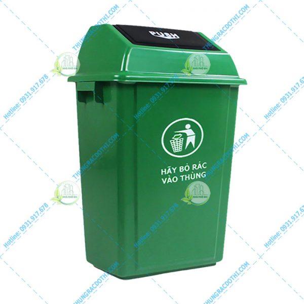 Thùng rác nhựa 25 lít nắp lật