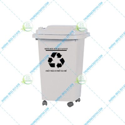 thùng rác nhựa 60 lít bệnh viện