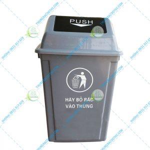 Thùng rác nhựa HDPE nắp lật 40 lít