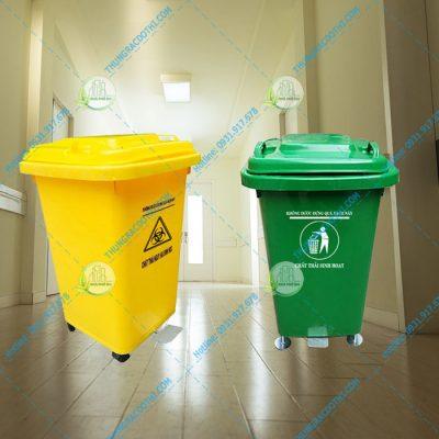 Thùng đựng rác thải bệnh viện 60 lít đạp chân