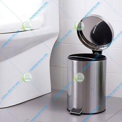 giá thùng rác inox 304