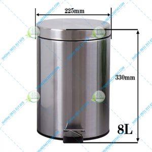 kích thước thùng rác inox 304