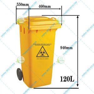 Mua thùng rác y tế 120 Lít