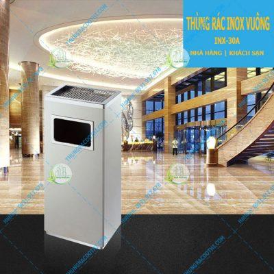thùng đựng rác bằng inox