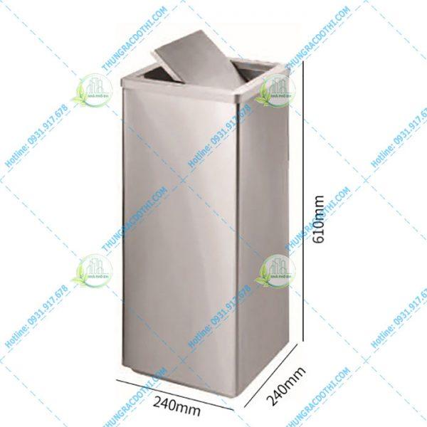 thùng rác inox công nghiệp 20 lít