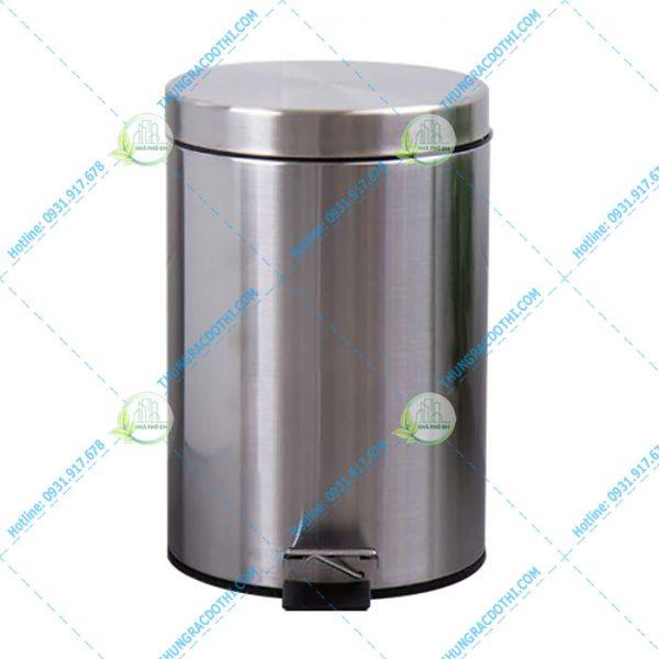 thùng rác inox 12 lít