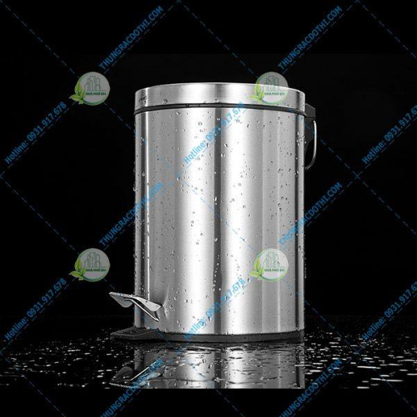 thùng rác inox đạp chân 12l