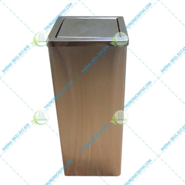 thùng rác inox loại lớn
