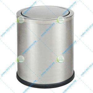 thùng rác inox nắp bập bênh 10 lít