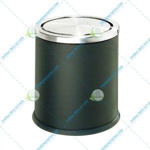 thùng rác nắp lật tròn