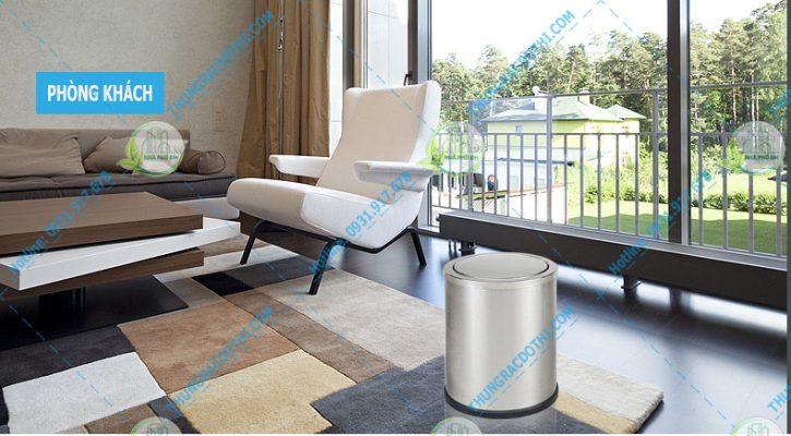 thùng rác inox phòng khách