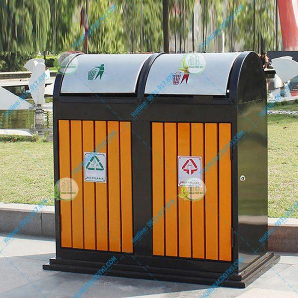 thùng rác gỗ giá rẻ
