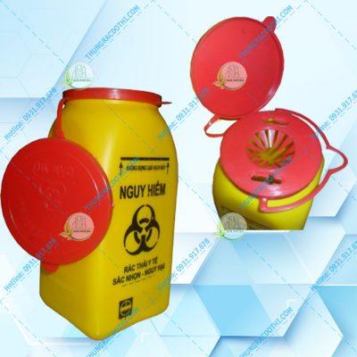 hộp đựng vật sắc nhọn y tế 1.5 Lít