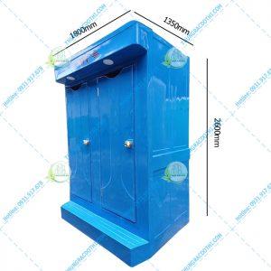 kích thước nhà vệ sinh di động