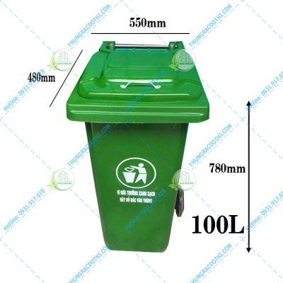 thùng rác 100 lít composite