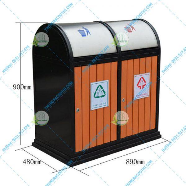 thùng rác bằng gỗ wd-78