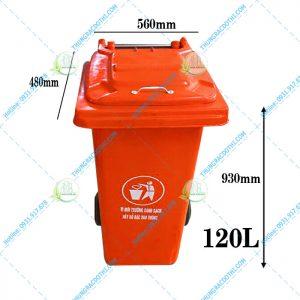 kích thước thùng rác composite 120 lít