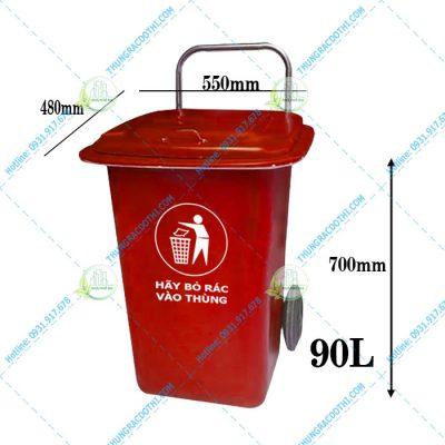 kích thước thùng rác composite 90l