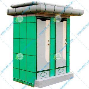 nhà vệ sinh composite 2 buồng