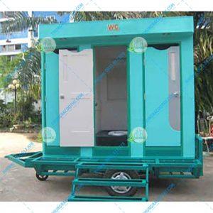 nhà vệ sinh lưu động có xe kéo