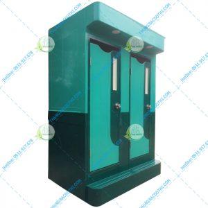 nhà vệ sinh di động màu xanh