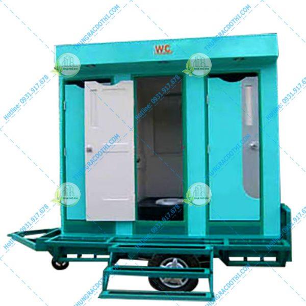 nhà vệ sinh di động có xe kéo