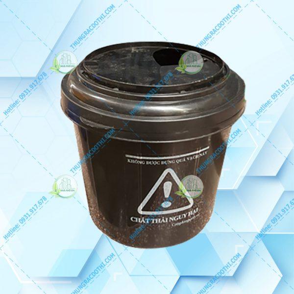 thùng rác y tế màu đen 22 lit