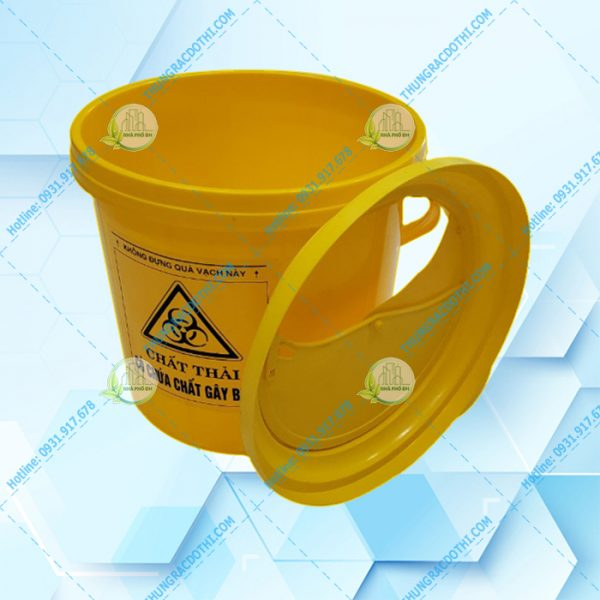 thùng rác y tế màu vàng 22 Lít