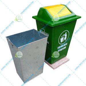 thùng rác 60 lít ngoài trời