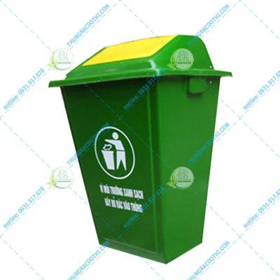 thùng rác composite 110 lít nắp lật