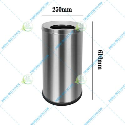 thùng rác inox nắp hở 20 lít
