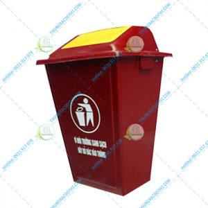 thùng rác nhựa 110 lít nắp lật