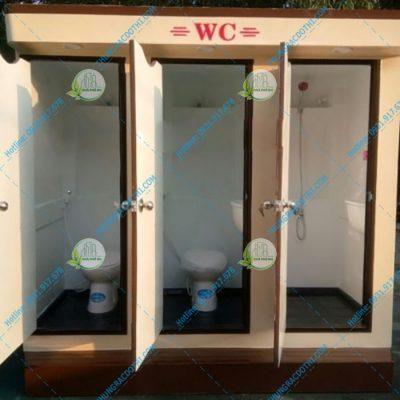 toilet di động 3 buồng