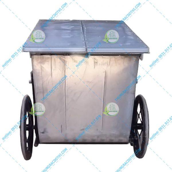 xe thu gom rác công nghiệp 500 lít