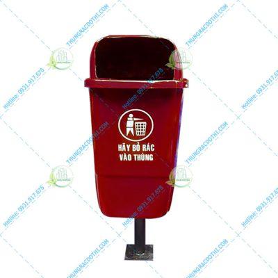 giá thùng rác composite 55 lít