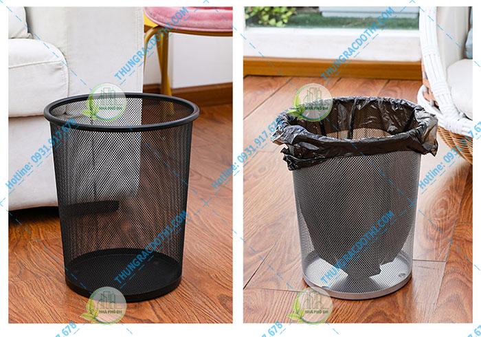 mua thùng rác lưới văn phòng 25 lít