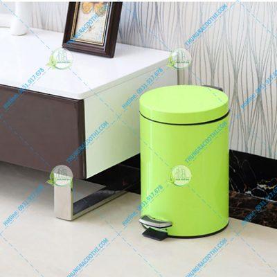 thùng rác đạp chân tròn 7 lít