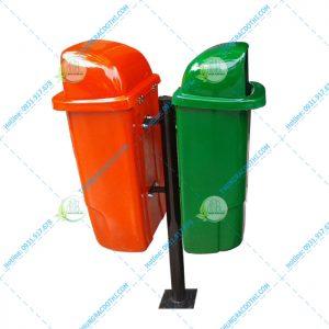 thùng rác 55 lít treo đôi