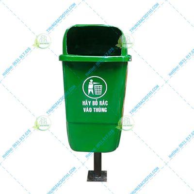 thùng rác treo khung 55 lít treo đơn