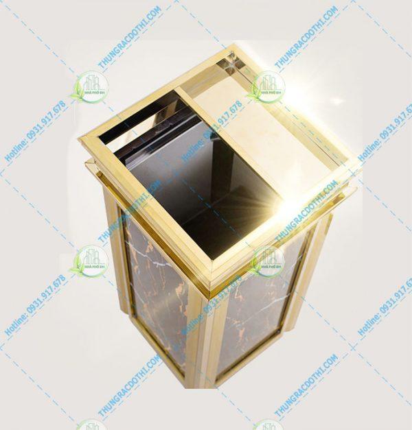 thùng rác đá hoa cương hc-14b